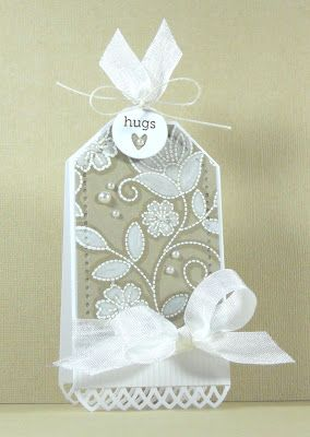 stitches and swirls, White Embossing Powder, Seam Binding, Cord, Pearls, White-Prismacolor Penc
