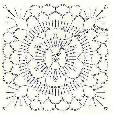 147 best Crochet Granny Chart images on Pinterest