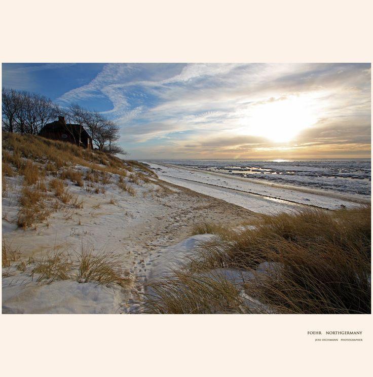 Insel Föhr, Nordfriesland. Winter in der Nähe von Wyk. www.foehrer-aussichten.de http://www.jensoschmann.de
