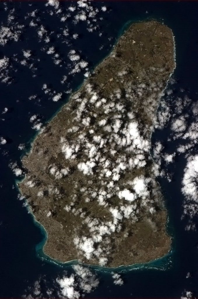 Barbados seen from the International Space Station
