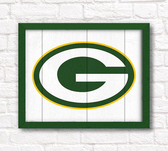 GREEN BAY PACKERS home decor  Boys room or man by thePaintedLlama, $55.00
