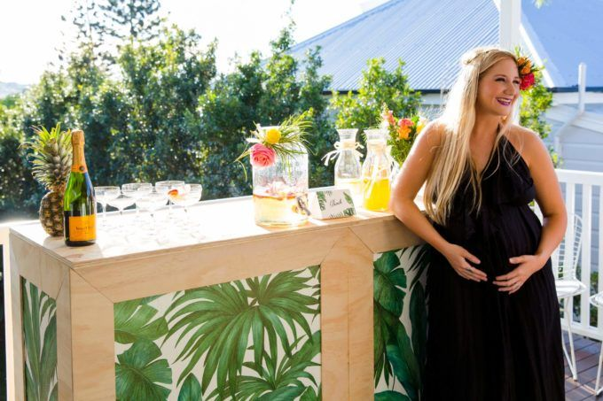 MOBILE BAR | TROPICAL BABY SHOWER Gathering Events, Baby Shower, Pop Up Bars, Tropical Bar, BYO Brisbane