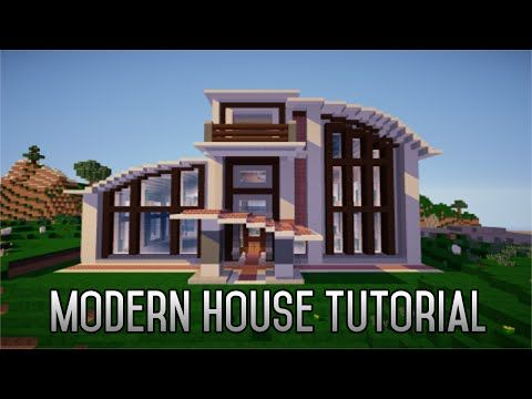 Minecraft tutorial how to build a modern house ep1 for Big modern house tutorial