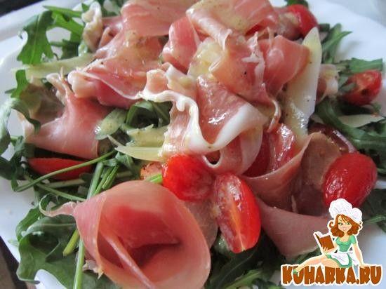 Рецепт: Салат с рукколой и прошутто