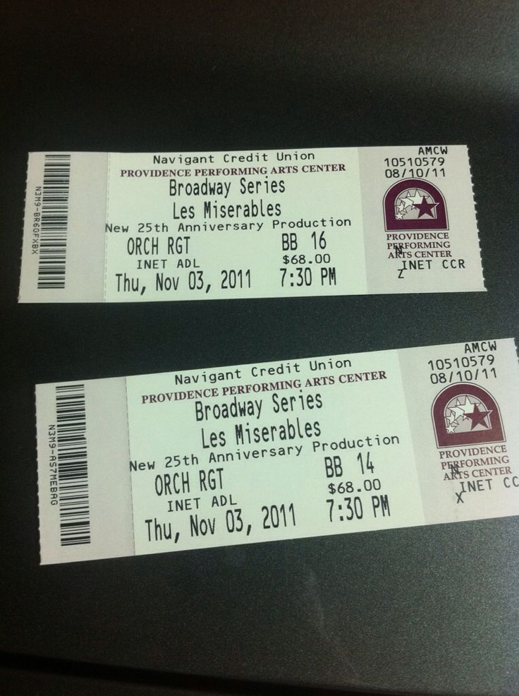 Tickets to Les Mis