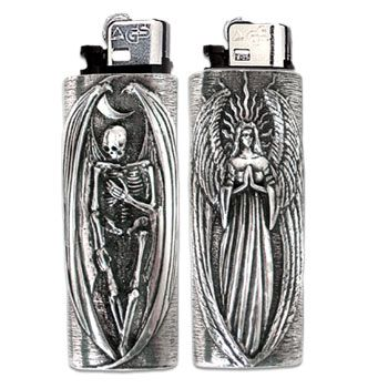 Darkness & Light Lighter Case - UK Import ONLY 1 LEFT! - pagan wiccan witchcraft magick ritual supplies