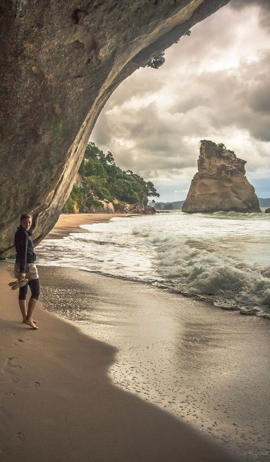 Mystical 'Cathedral Cove' in the Corromandel, New Zealand. (Chronicles of Narnia Prince Caspian was filmed here).