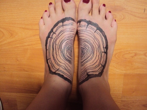 Tree Rings Tattoo Hate the placement. Love the idea
