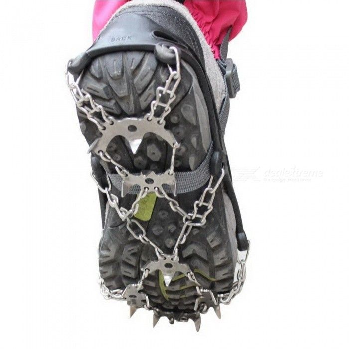 Sunfield 18-tooth Stainless Steel Shoe Chain Cleat Crampons (XL / Pair)