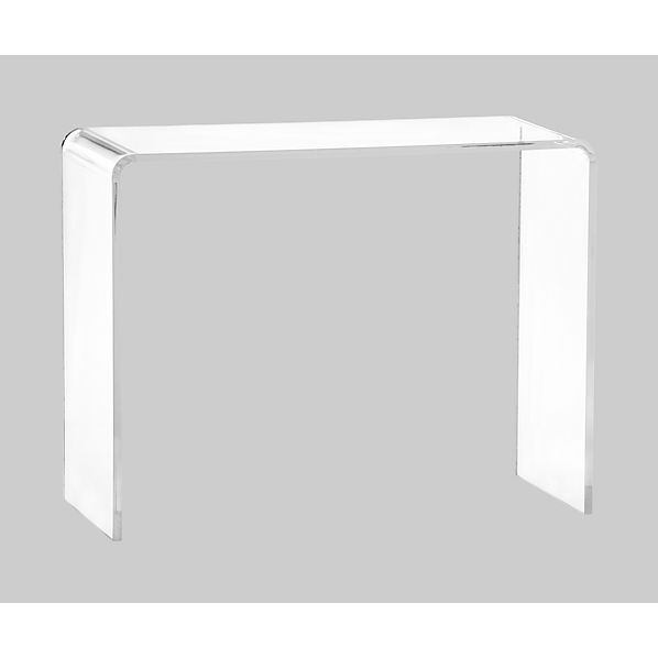 Peekaboo clear console table - Console plexiglas transparent ...