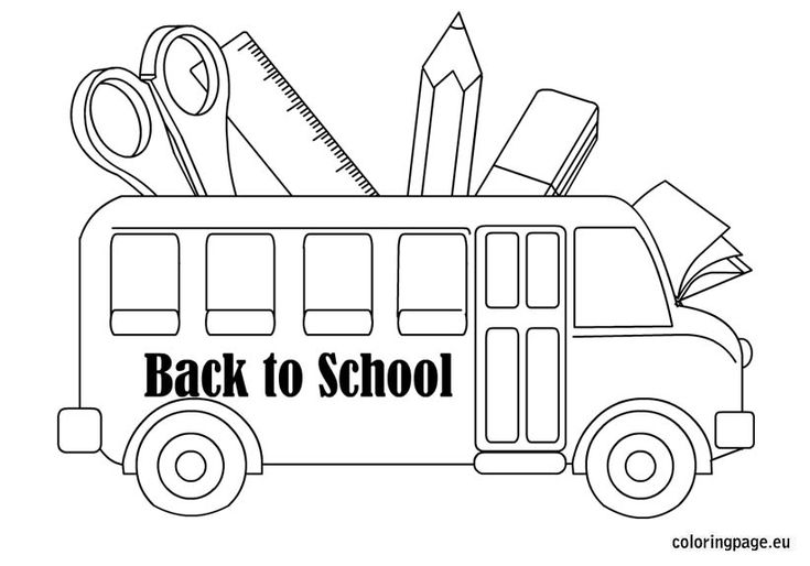 Back To School Coloring