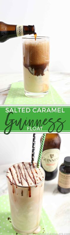 Move over, Guinness Float! There is a new Guinness-centric sweet in town! Instead of using plain vanilla ice cream in your float this St. Patrick's Day, consider adding salted caramel ice cream instead for a unique sweet and salty flavor. Drizzle the top with a favorite hot fudge sauce, then enjoy this decadent float with a friend or loved one. This Salted Caramel Guinness Float is guaranteed to be a favorite adult dessert to enjoy during St. Patrick's Day festivities.