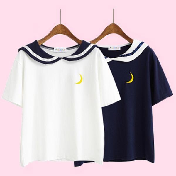 Sailor Moon Style Short Sleeved T-Shirt – OhMyKawaiiShop.com