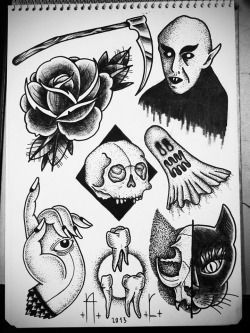 cat Halloween eye hand tattoo skull rose vampire flash tattoo flash Nosferatu tooth andrecast coviltattoo