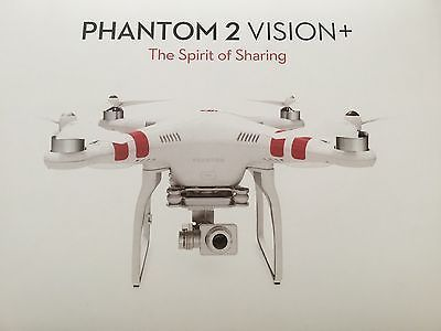 ﹩397.00. *NEW* DJI Phantom 2 Vision + Plus Drone Quadcopter UAV Vision Plus    Type - Ready to Fly Drone, Camera Integration - Camera Included, Camera Features - 1080p HD Video Recording, UPC - 721351822829