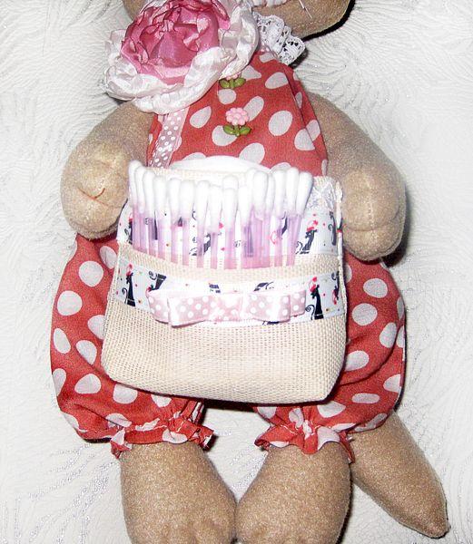Сделано руками. Блог Елены Че.: Кошечка-хранительница ватных дисков и ватных палочек