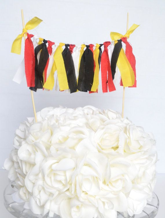 Mickey Mouse Cake Topper  First Birthday Cake by BannersAway