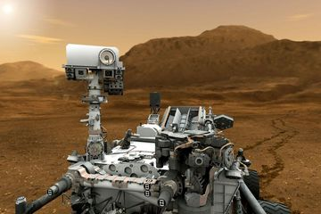 Artist's Conception of Curiosity Mars Rover - Curiosity is scheduled to touch down on Mars on Aug. 5 at 10:31 p.m. PDT