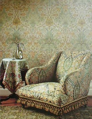 Wallpaper, Carpet, Upholstery, Glassware - William Morris (c.1888)