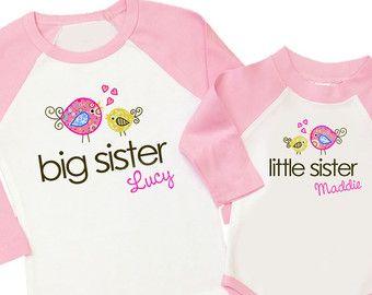 grote zus shirt zusje shirt schattig van zoeysattic op Etsy