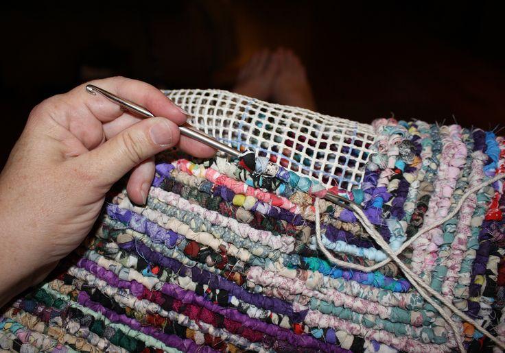 crochet scrap rug | Locker Hooker Rag Rugs | Ashton Publications