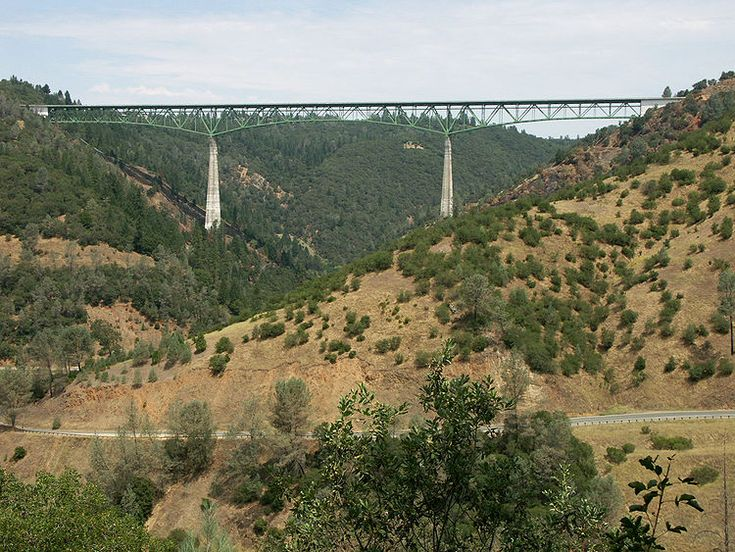 Drive the Auburn-Foresthill Bridge - 4th tallest bridge in the US, tallest bridge in CA. Gone across it a few times & even walked out onto it once....made me nauseated every time!