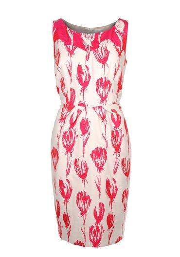 Aideen Bodkin Juipiter Dress, Cream and Raspberry   McElhinneys Online Department Store