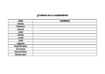 ¿Cuándo es tu cumpleaños? is a survey for beginning students of Spanish from Real Life Language. This can be done as a whole class activity or students can walk around the room finding out when their classmates have birthdays. Follow up activities include talking about how many people have birthdays in different months or different seasons.