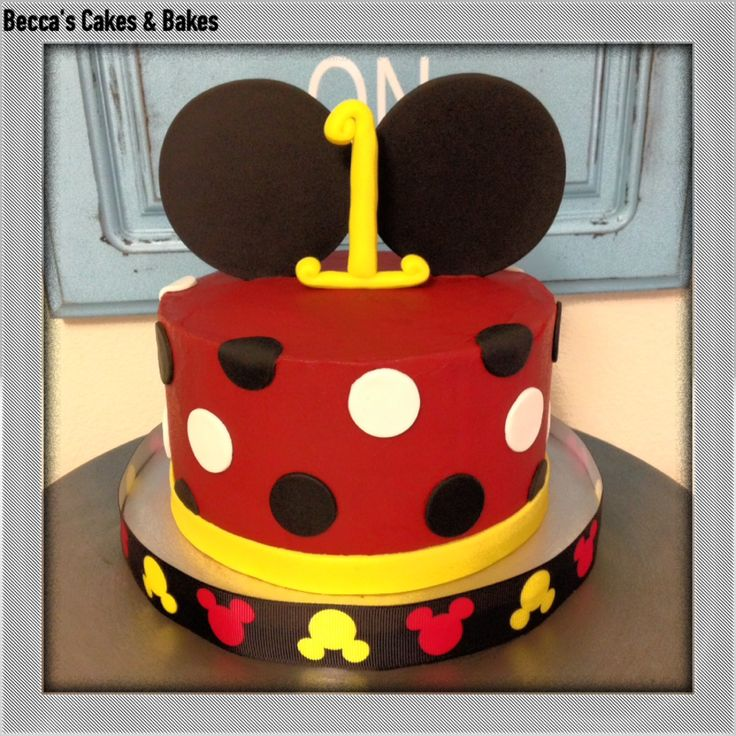 Mickey Mouse Smash Cake: Becca's Cakes And Bakes