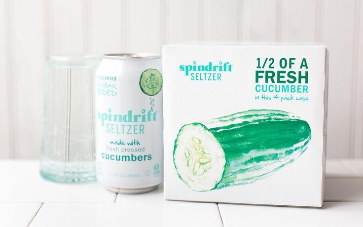 Spindrift Cucumber Seltzer Water x 2
