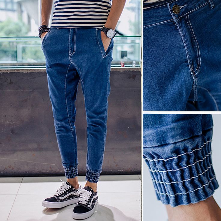 Cheap pants polyester, Buy Quality trouser rack directly from China trousers kids Suppliers:  Jeans Men 2015 Autumn New Simple Denim Harem Pants Men   Fashion Slim Fit Brand Designer Mens Joggers Wholesale Retails