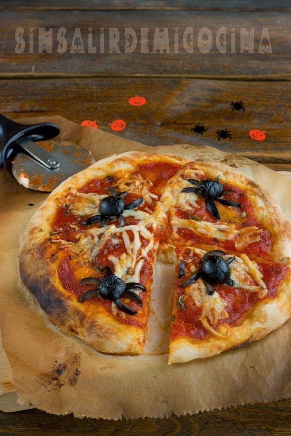 SIN SALIR DE MI COCINA: MASA DE PIZZA (SUPER RÁPIDA) CON YOGUR GRIEGO PARA HALLOWEEN