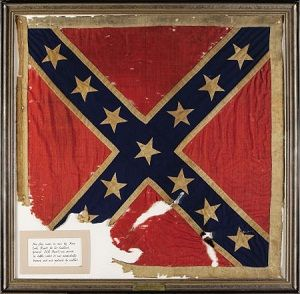 The top 10 most expensive... American Civil War memorabilia. This is the Personal Battle Flag of  Confederate General J.E.B. Stuart which sold for $956,000 in 2007.  - Dixie Outfitters is the leading supplier of Confederate and Southern Heritage T-shirts (tees) and products including apparel, accessories and other merchandise.