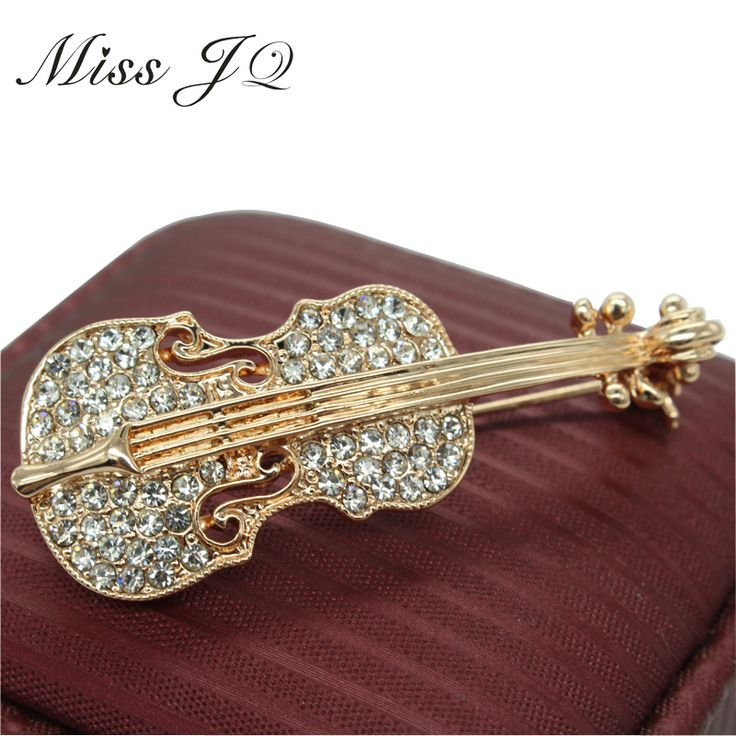 New Fashion 2016 Gold Plated Music Violin Brooches For Women Rhinestone Crystal Brooch Wedding Broches Pins Men Jewelry-in Brooches from Jewelry & Accessories on Aliexpress.com | Alibaba Group