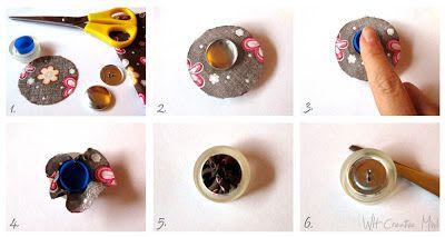 What happens in a creative mind: Bottoni decorativi fai-da-te: come rivestire un bottone in tessuto