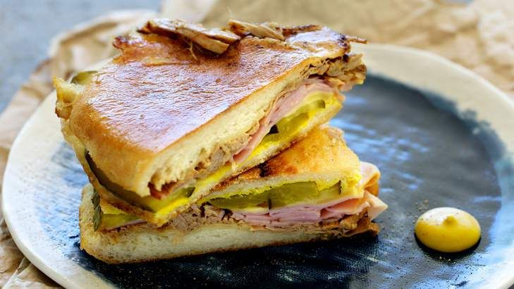 A classic Florida-style Cuban sandwich uses both roast pork and ham, says Adam Liaw.