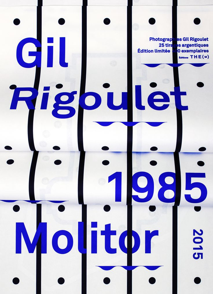 ©les graphiquants - Gil Rigoulet Molitor 1985 - 2015 - #graphic #design #photography #cover #layout #book #molitor #gilrigoulet #unquotedsheets - www.the-m.fr