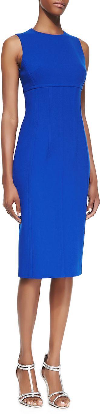 Michael Kors Stretch Boucle Crepe Sleeveless Dress  LOOKandLOVEwithLOLO: Dress for Success