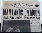 Apollo 11 - first moon landing, July 20, 1969. Philadelphia Inquirer: July 21, 1969