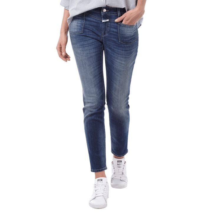 | #Closed #Stone #Washed #Slim #Fit #Jeans mit #verkürztem #Bein #für #Damen