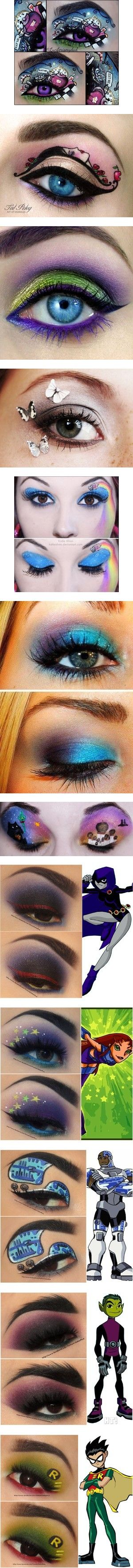 Eye Makeup!! by heatherchristine1408 on Polyvore featuring women's fashion, costumes, makeup, beauty, eyes, mad hatter costume, mad hatter halloween costume, beauty products, eye makeup and eyeshadow