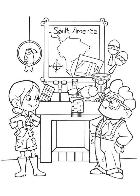 Pixars Up House Coloring Page Coloring Coloring Pages