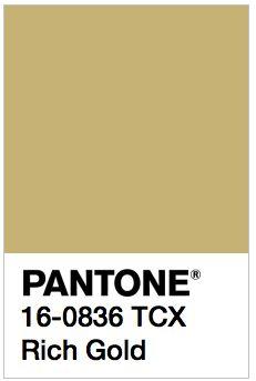 PANTONE 16-0836 TCX Rich Gold Color Values: RGB: 200-178-115 HEC/HTML: C8B273