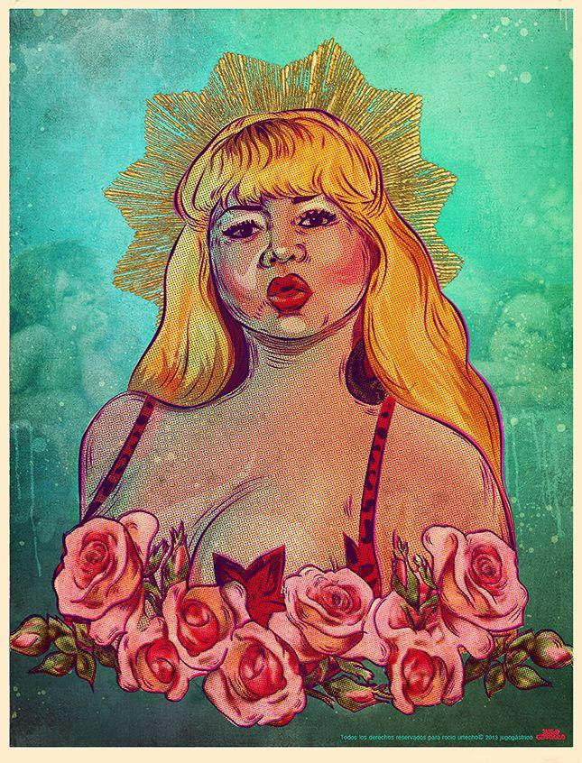 Susy Díaz, 'La musa Kitsch peruana' (((Ilustración homenaje a sus 50 años de vida)))