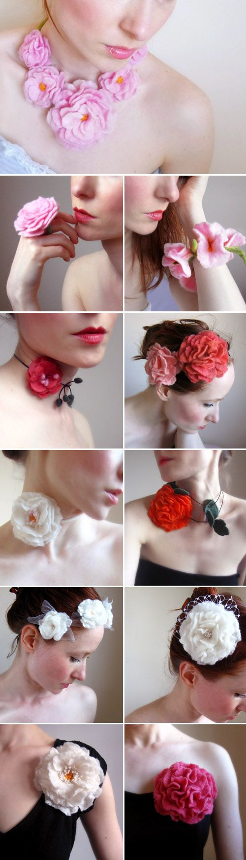 Felt flower accessories