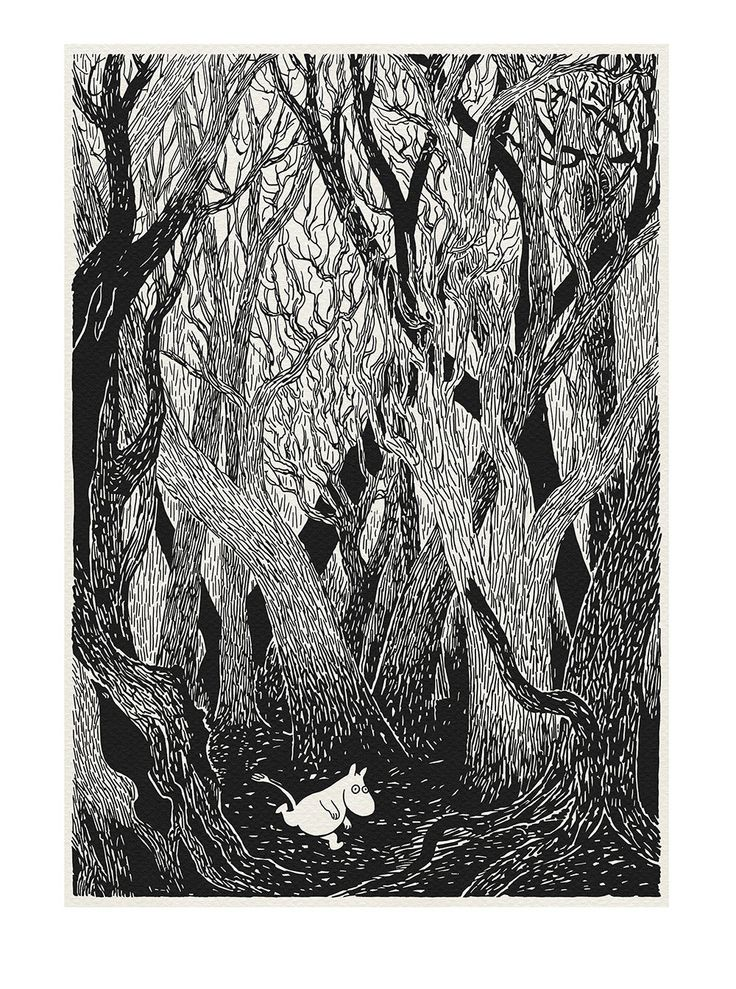 Run Moomintroll - classic print based on Moomin book illustration - A3 poster…