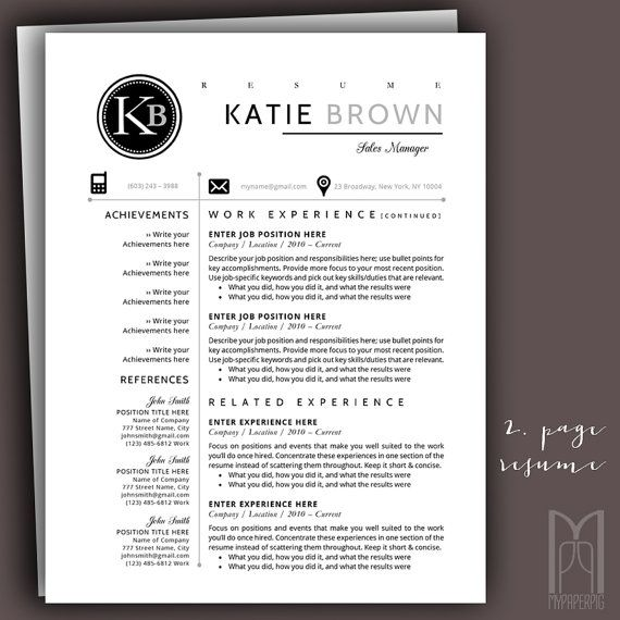109 best ALL OF MY Modern \ Creative RESUME TEMPLATES images on - resume template mac