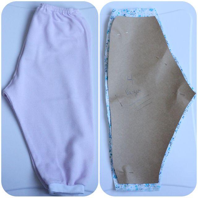 molde para calça infantil