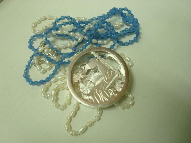 La bella durmiente, medallon en 3D, plata ley