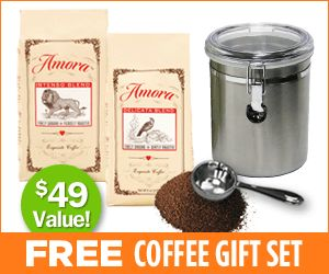 FREE Coffee Gift Set from Amora Coffee – Just Pay Shipping!